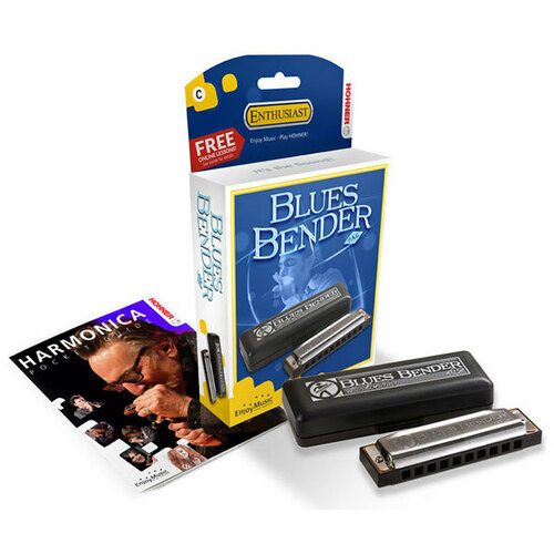 Hohner Enthusiast Series Blues Bender Harmonica in the Key of A