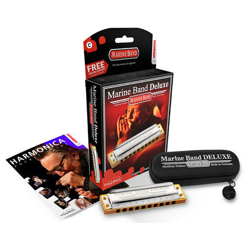 Hohner Marine Band Deluxe Harmonica in the Key of Db