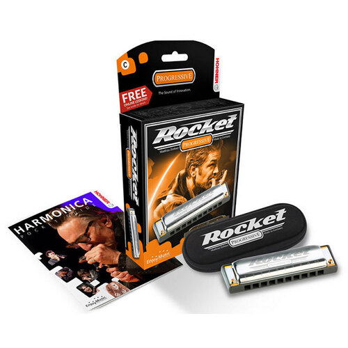 Hohner Progressive Series Rocket Harmonica in the Key of F