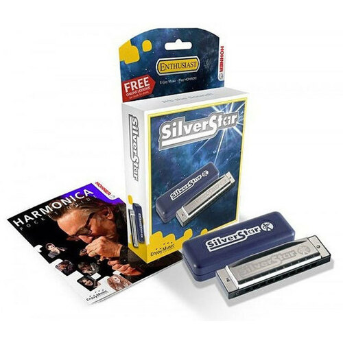 Hohner Enthusiast Series Silverstar Harmonica in the Key of E