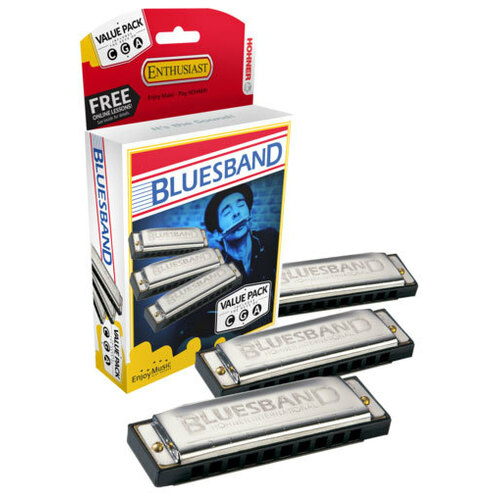 Hohner Blues Band 3-Pce Harmonica Value Pack in the Keys C, G, A