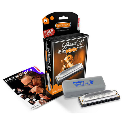 Hohner Progressive Series Special 20 Harmonica in the Key of F