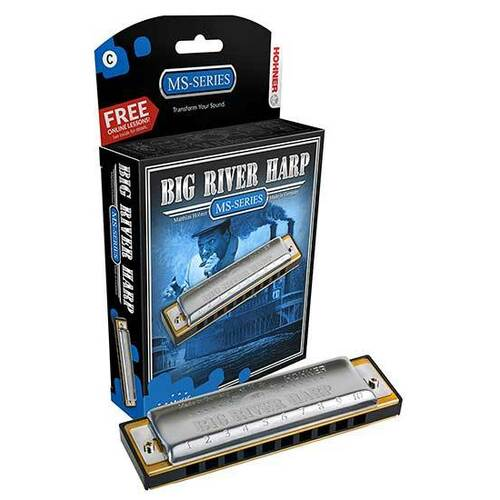 Hohner MS Series Big River Harmonica in the Key of A