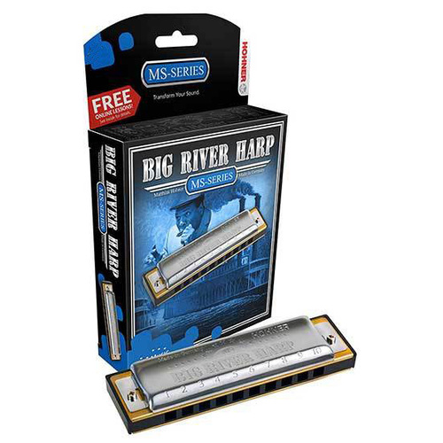Hohner MS Series Big River Harmonica in the Key of E