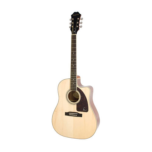 The Epiphone AJ-220SCE Solid Top Ac/Electric Natural