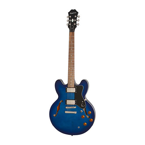 The Epiphone DOT Deluxe Blue Burst