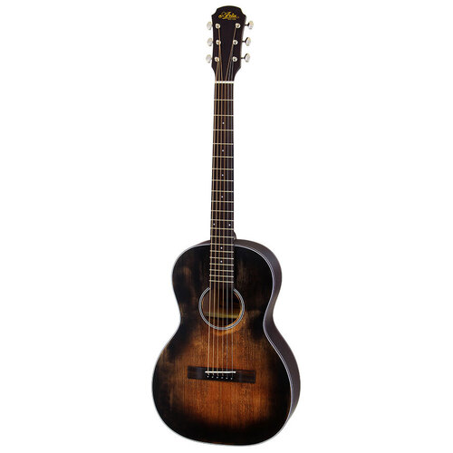 Aria Delta Players Series Parlour Acoustic Guitar in Muddy Brown Finish