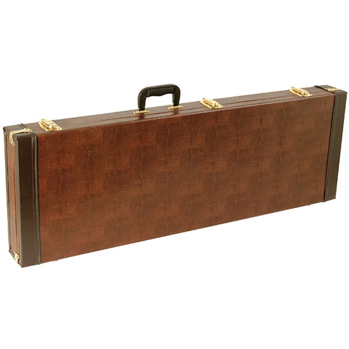 On Stage Oblong Electric Guitar Case in Snakeskin