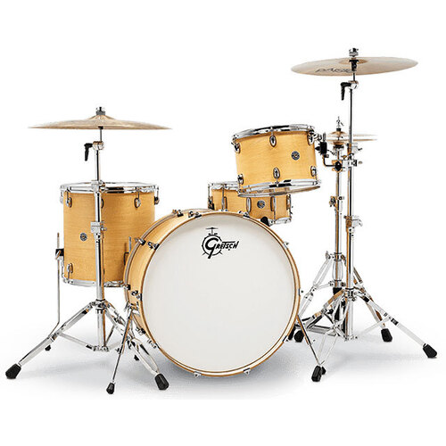 Gretsch Catalina Club Rock 4-Pce Drum Kit in Satin Natural