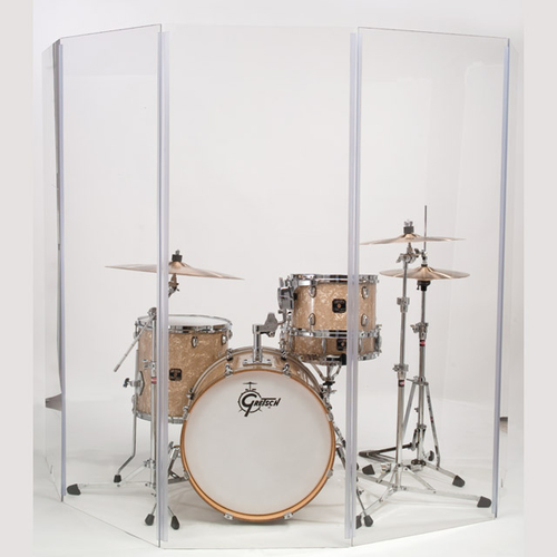 Gibraltar 5-Piece Acrylic Drum Sound Shield (5.5ft x 10ft)