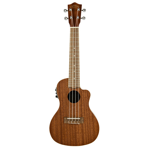 Lanikai Mahogany Series Concert AC/EL Ukulele in Natural Satin Finish