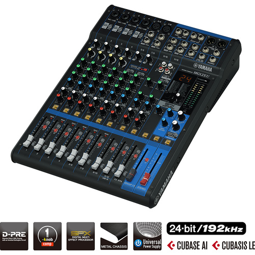Yamaha MG12XU D-Pre Mixer With Effects & USB
