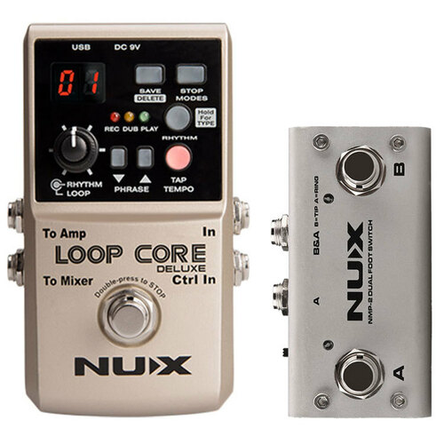 NU-X Core Stompbox Series Loop Core Deluxe Bundle