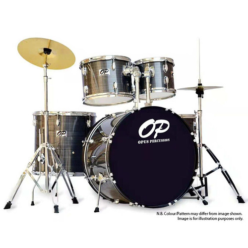Opus Percussion 5-Piece Rock Drum Kit in Grey Slate