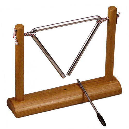 "Opus Percussion 6"" Triangle on Wooden Stand with Striker"