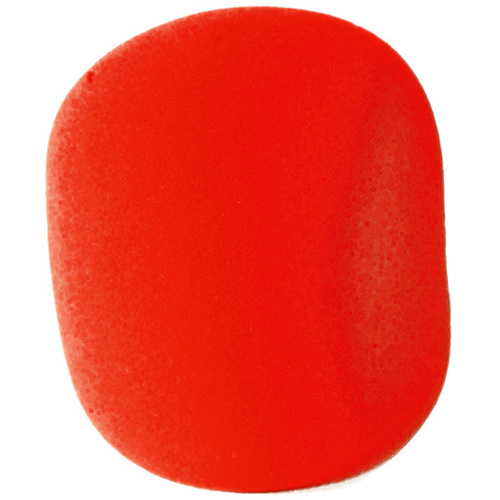 On Stage Red Foam Microphone Windscreen Pk-1