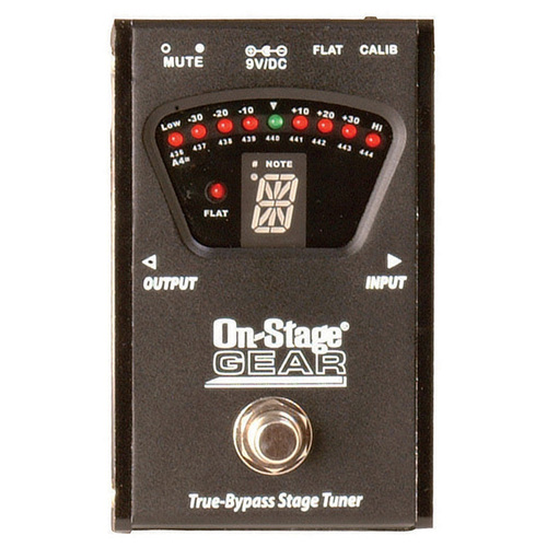 On Stage True Bypass Pedal Tuner