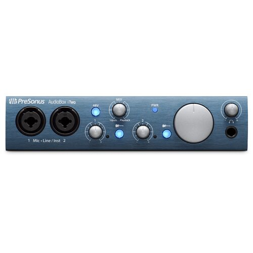 PreSonus Audiobox iTwo 2X2 USB / Ipad Interface W/ 2 Mic Inputs & MIDI