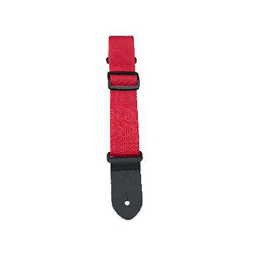 "Perris 1.5"" Nylon Ukulele Strap in Red with Leather ends"