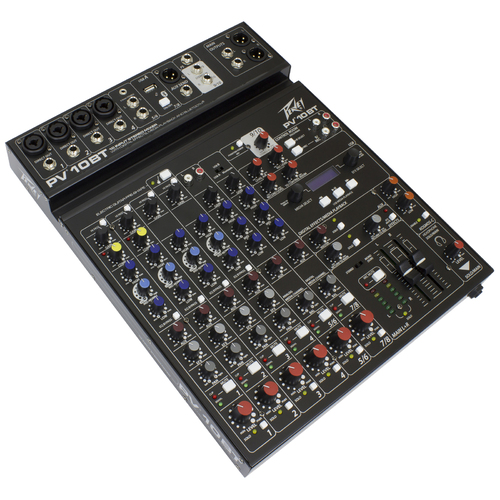 "Peavey PV Series ""PV-10BT"" Compact 10-Channel Mixer with Bluetooth"