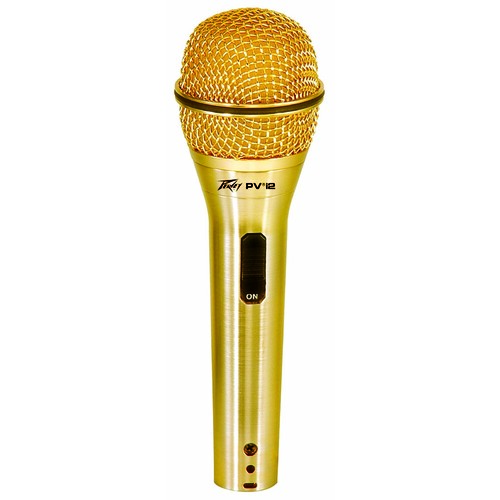 Peavey PVi2 Dynamic Cardioid Microphone in Gold with XLR-XLR Cable
