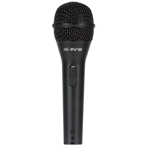 Peavey PVi2 Dynamic Cardioid Microphone in Black with XLR-XLR Cable