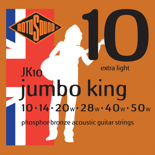 RotoSound JK10 Jumbo King Phosphor Bronze 10 - 50 String