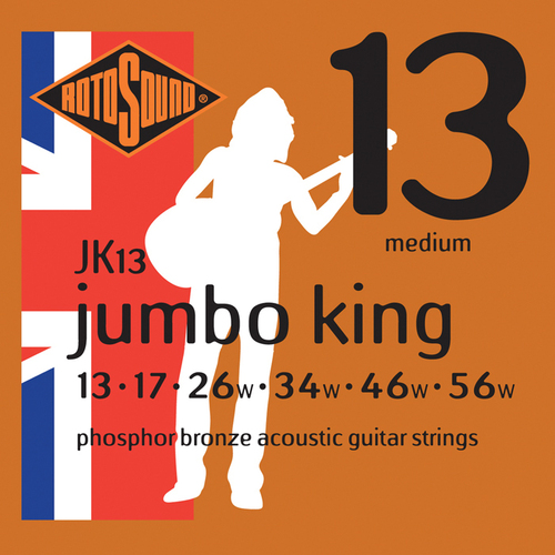 RotoSound JK13 Jumbo King Phosphor Bronze 13 - 56 String