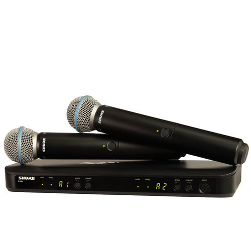 Shure BLX288/B58 Dual Channel Handheld Wireless System - BETA58A Handheld (2)