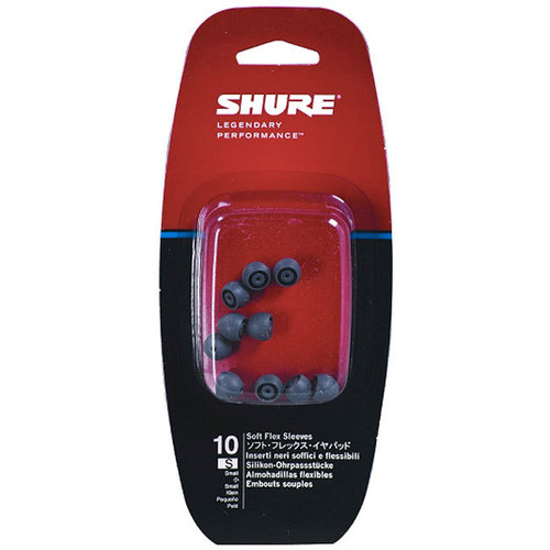 Shure Small Size Grey Soft Flex Sleeves (PK-10)