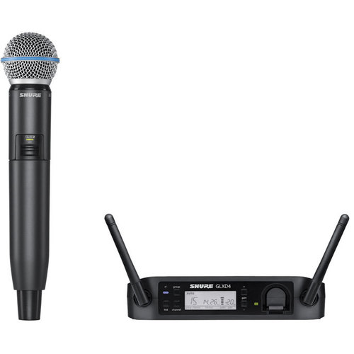 Shure GLXD24/B58 Digital Handheld Wireless System - BETA58A Handheld
