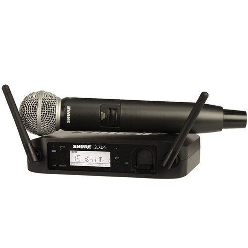 Shure GLXD24/SM58 Digital Handheld Wireless System - SM58 Handheld