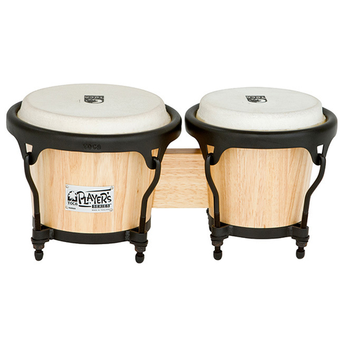 "Toca 5-1/2 & 7"" Players Series Wooden Bongos in Natural"