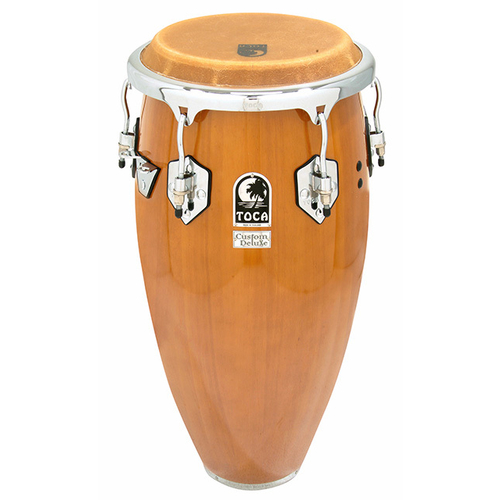 "Toca Custom Deluxe Series 11-3/4"" Wooden Conga in Antique Maple"