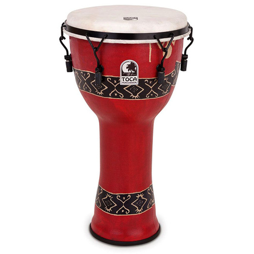 "Toca Freestyle 2 Series Mech Tuned Djembe 10"" in Bali Red"