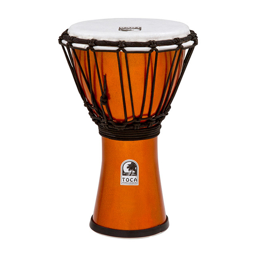 "Toca Freestyle Colorsound Series Djembe 7"" in Metallic Orange"