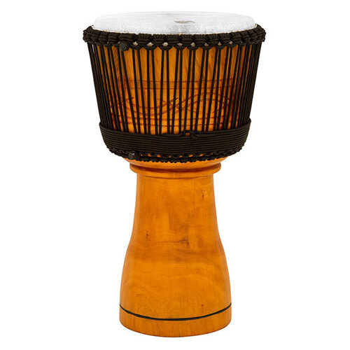 "Toca Master Series Wooden Djembe 12"" Synthetic Head in Natural with Bag"