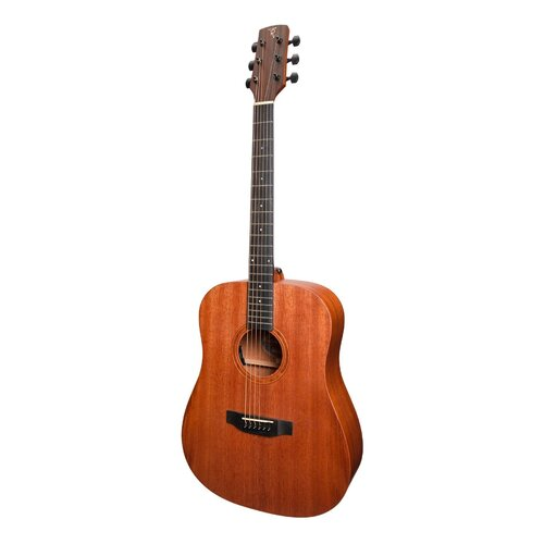 Timberidge 'Messenger Series' All Solid Mahogany Acoustic-Electric Dreadnought Guitar (Natural Satin)
