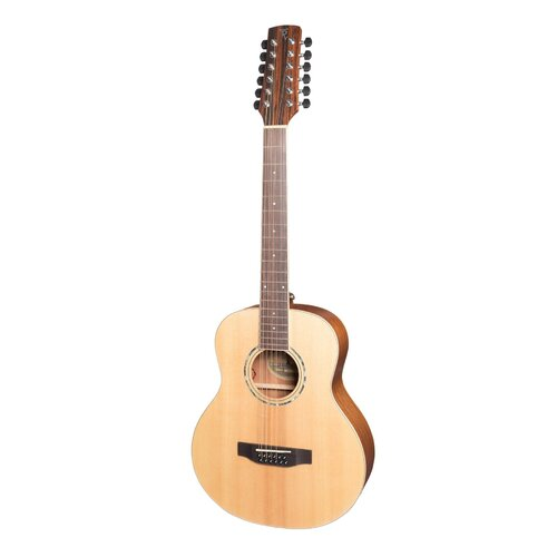 Timberidge '1 Series' 12-String Spruce Solid Top Acoustic-Electric TS-Mini Guitar (Natural Satin)
