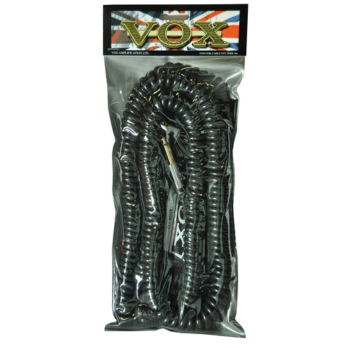 VOX VCC090 BLACK COILED GUITAR CABLE