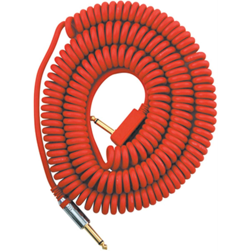 VOX VCC090 RED COILED GUITAR CABLE